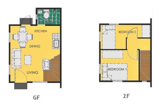 Ravena Floor Plan House and Lot in Sta. Cruz