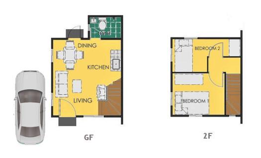 Reva Floor Plan House and Lot in Sta. Cruz