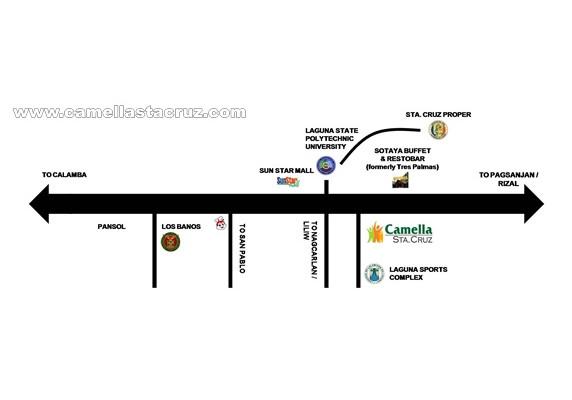 Camella Sta. Cruz Location and Amenities