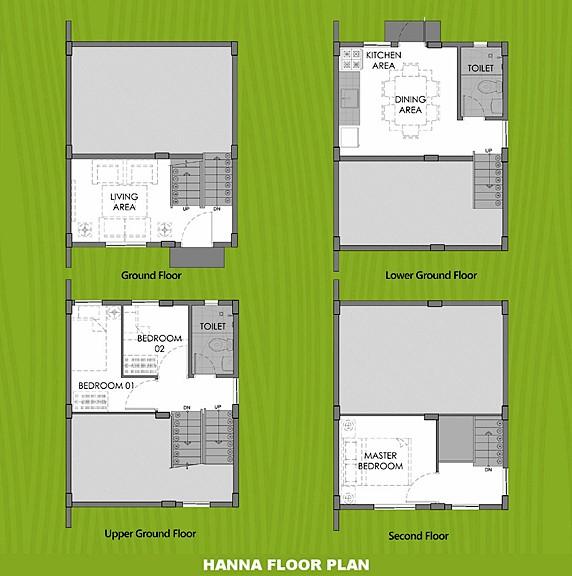 Hanna Floor Plan House and Lot in Sta. Cruz