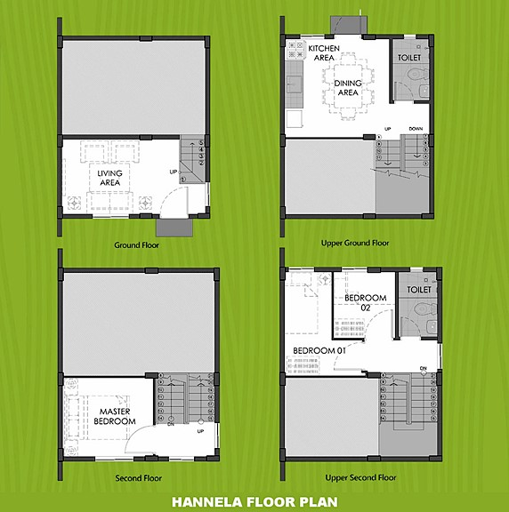 Hannela Floor Plan House and Lot in Sta. Cruz