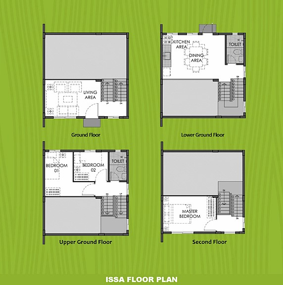 Issa Floor Plan House and Lot in Sta. Cruz