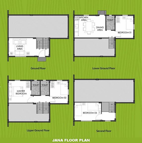 Janna Floor Plan House and Lot in Sta. Cruz