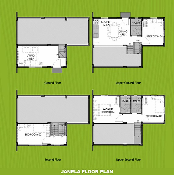 Janela Floor Plan House and Lot in Sta. Cruz