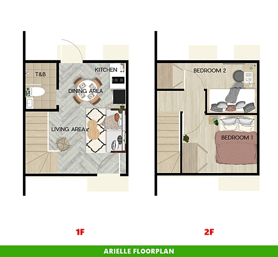 Arielle Floor Plan House and Lot in Sta. Cruz