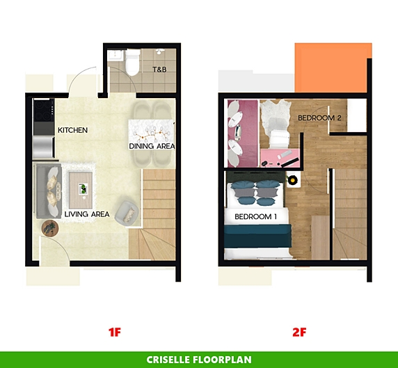 Criselle Floor Plan House and Lot in Sta. Cruz