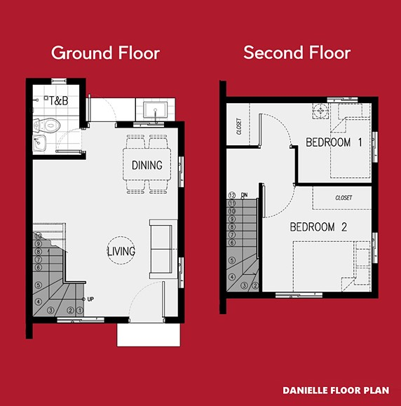 Danielle Floor Plan House and Lot in Sta. Cruz