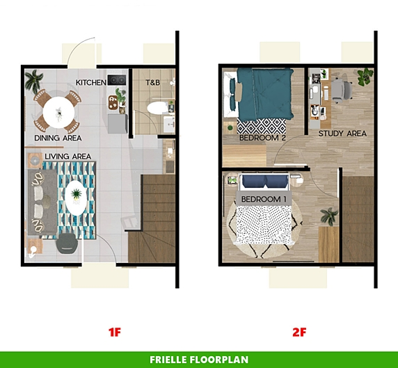 Frielle Floor Plan House and Lot in Sta. Cruz